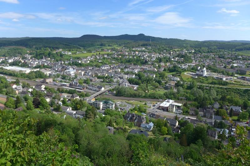 Fernblick vom Aussichtspunkt Munterley