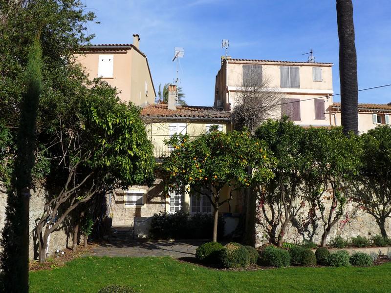 Schöner Innenhof mit Mandarinenbäumen
