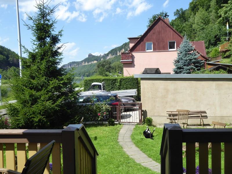 Ausblick aus unserer Ferienwohnung in Richtung der Schrammsteine