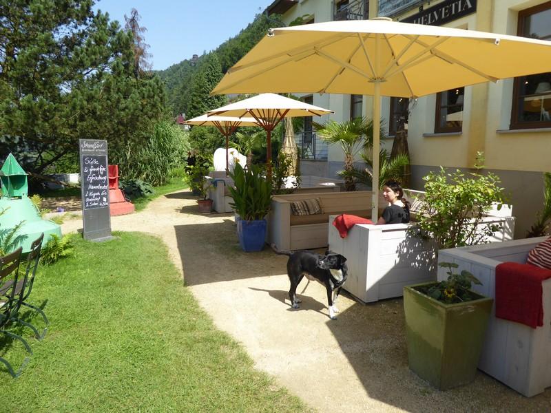 Gartenterrasse des Restaurants Strandgut